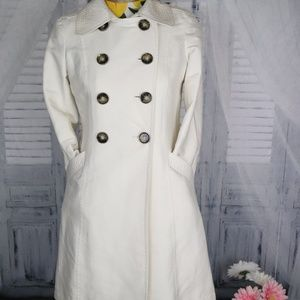 White/Cream Kenneth Cole PeaCoat Smaill